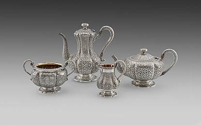 An Ashburnham Pattern Five piece Tea & Coffee Service