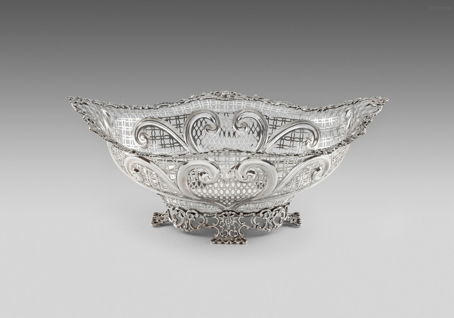 A Monumental Victorian Basket Centrepiece