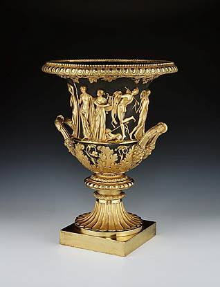 A George III Chased Bronze And Ormolu Model ofThe Borghese Vase Attributed To Rundell, Bridge & Rundell