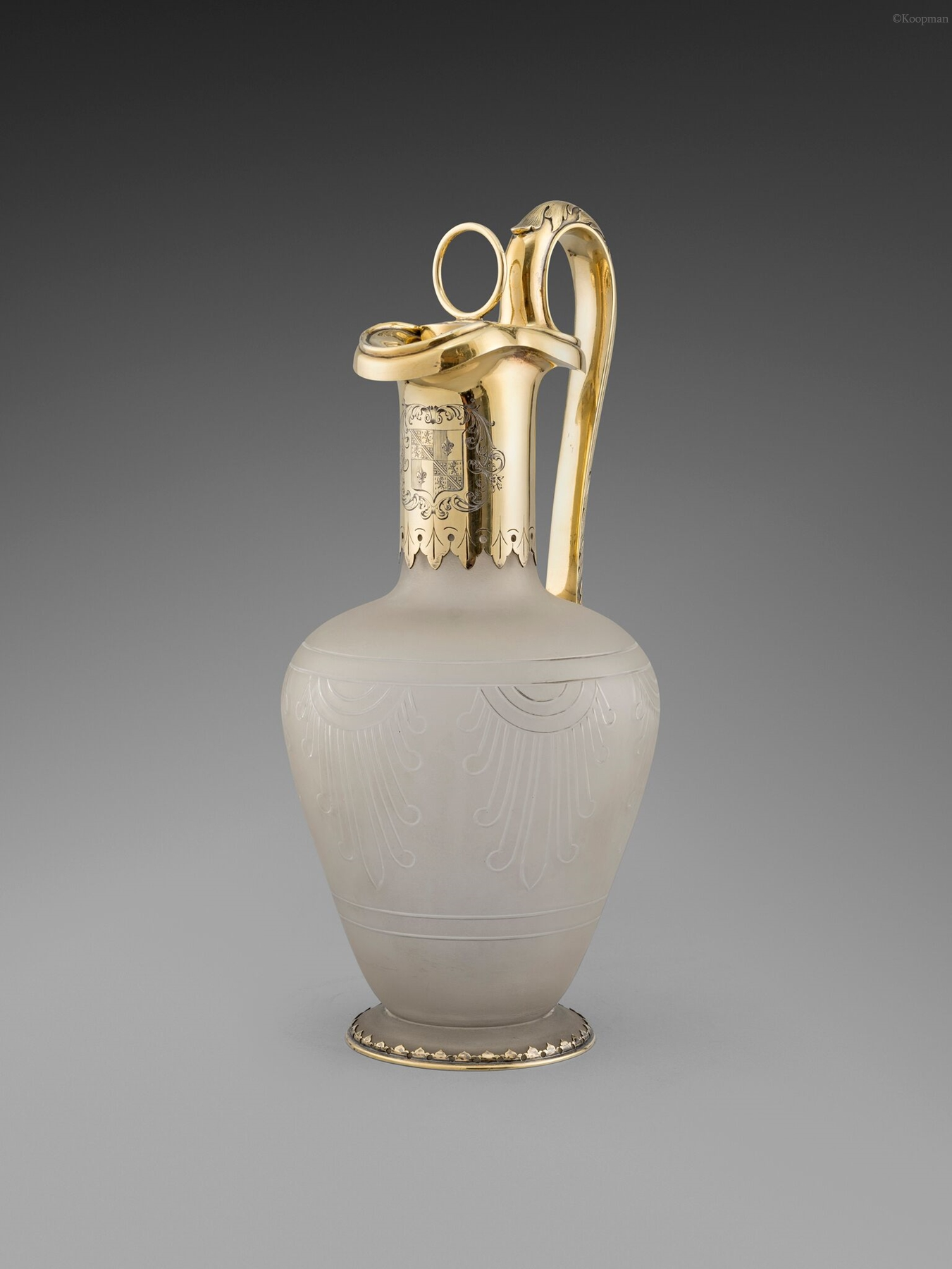 A Victorian Silver-Gilt Mounted Claret Jug