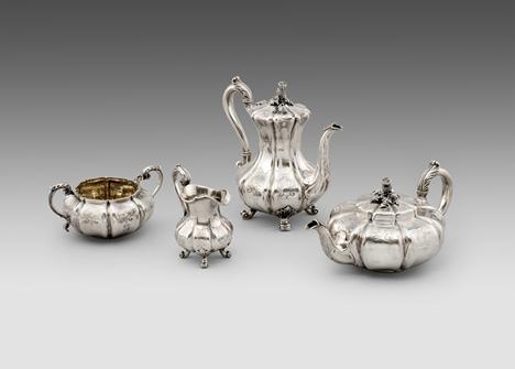 A Victorian Four-Piece Tea & Coffee Service