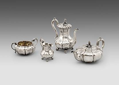 A Victorian Four-Piece Tea & Coffee Service
