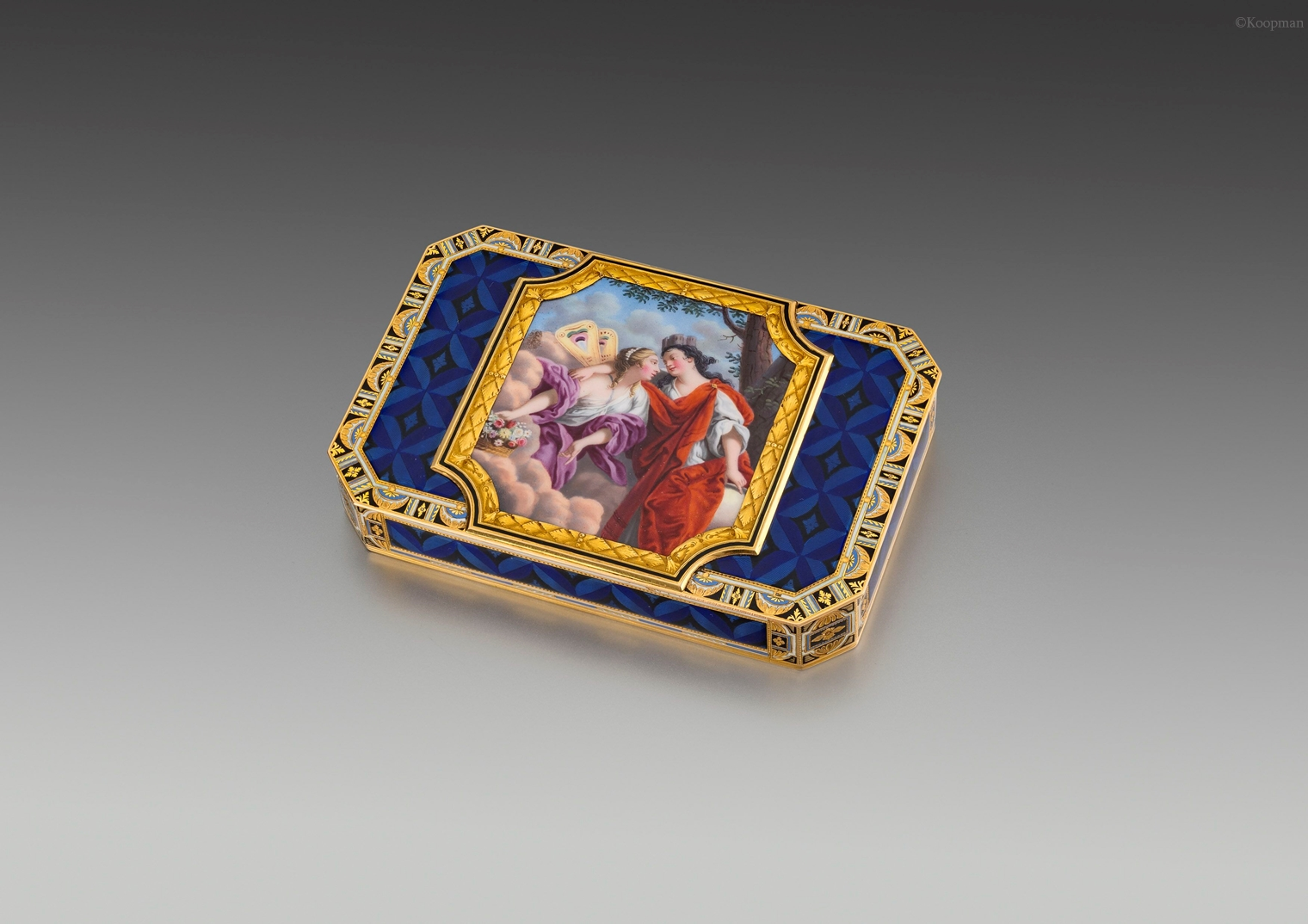 An Early 19th Century Swiss Gold & Enamelled Snuff Box
