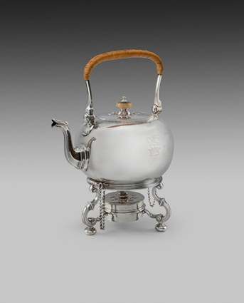 A Fine George II Kettle on Stand