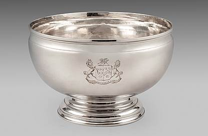 An Elegant George II Punch Bowl