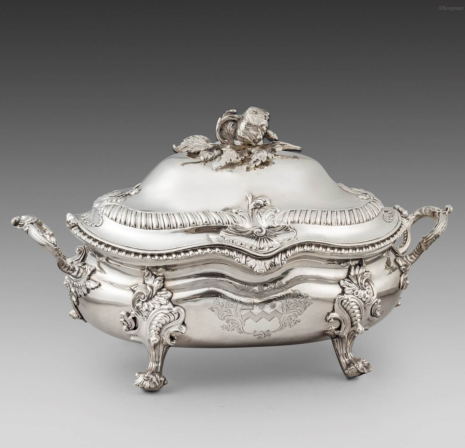 A Pair of Victorian 'Rococo' Soup Tureens