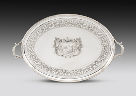 A Massive Late Neo-Classical Style George III Tray