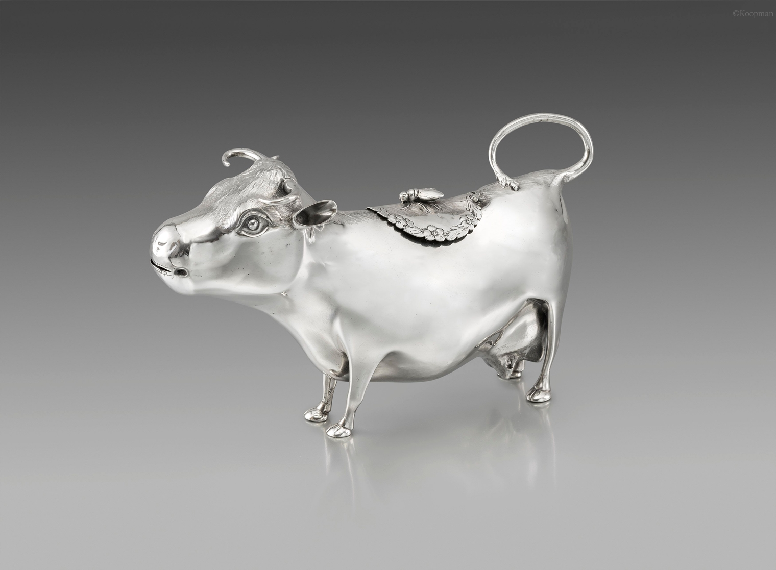 A large George III Cow Creamer
