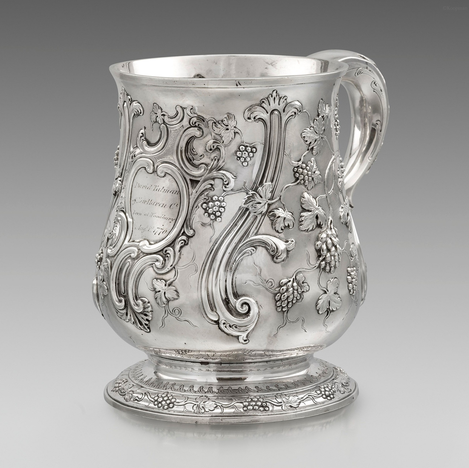 A Large George III Tankard of American Interest