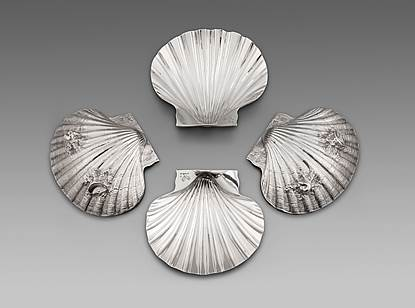 A Set of Four George II Butter Shells