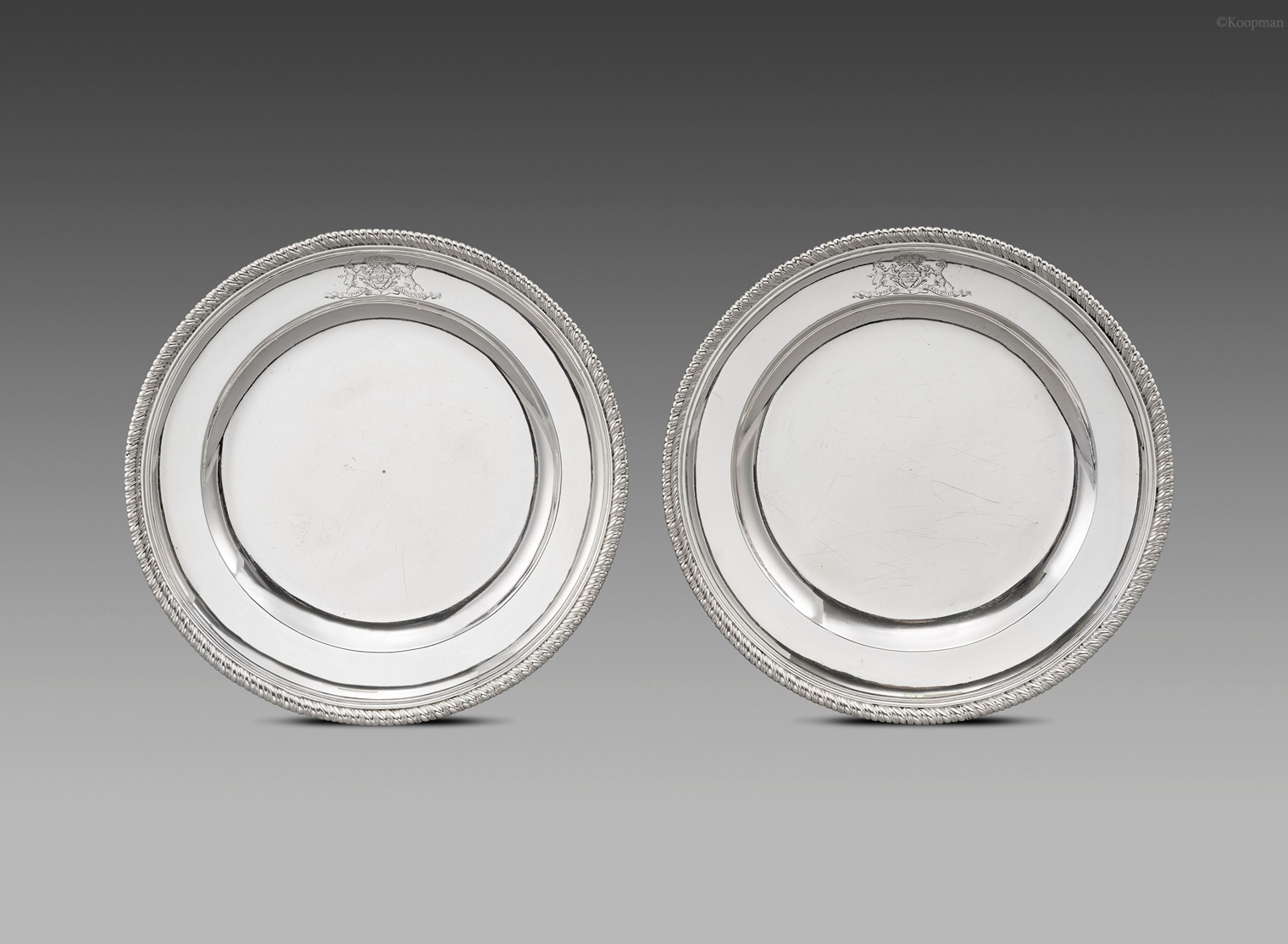 A Pair of George II Dishes