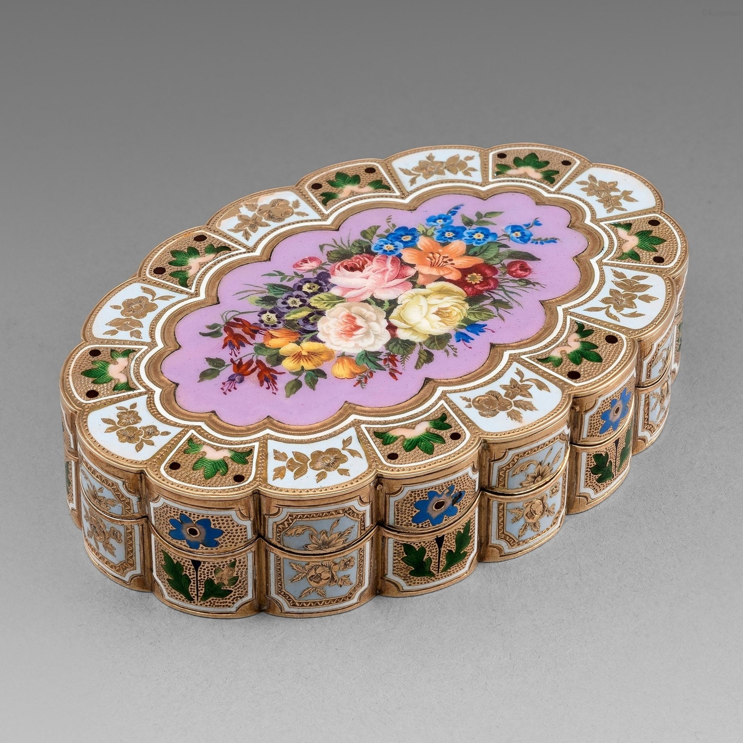 A Swiss 19th Century Gold & Enamel Box