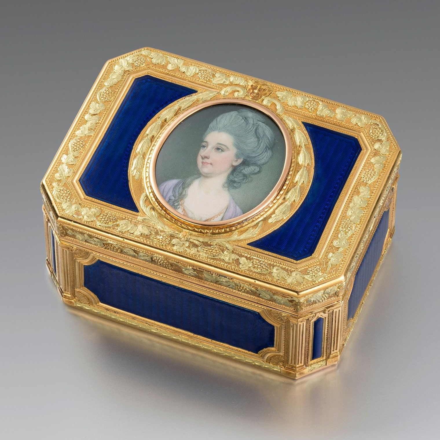 A French Late 18th Century Gold and Enamel Box