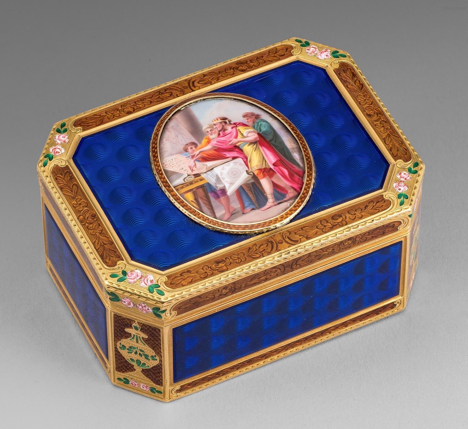 A German Gold & Enamel Box