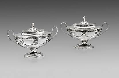 A Pair of 18th Century Neo-Classical Sauce Tureens