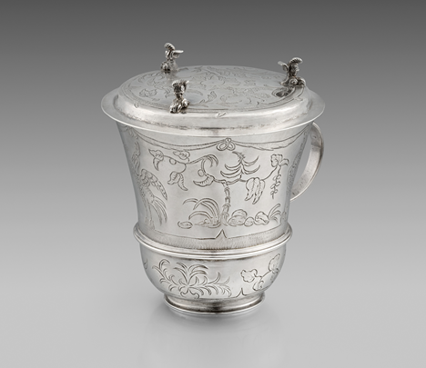 An Exquisite Charles II Hot Chocolate Cup with Cover