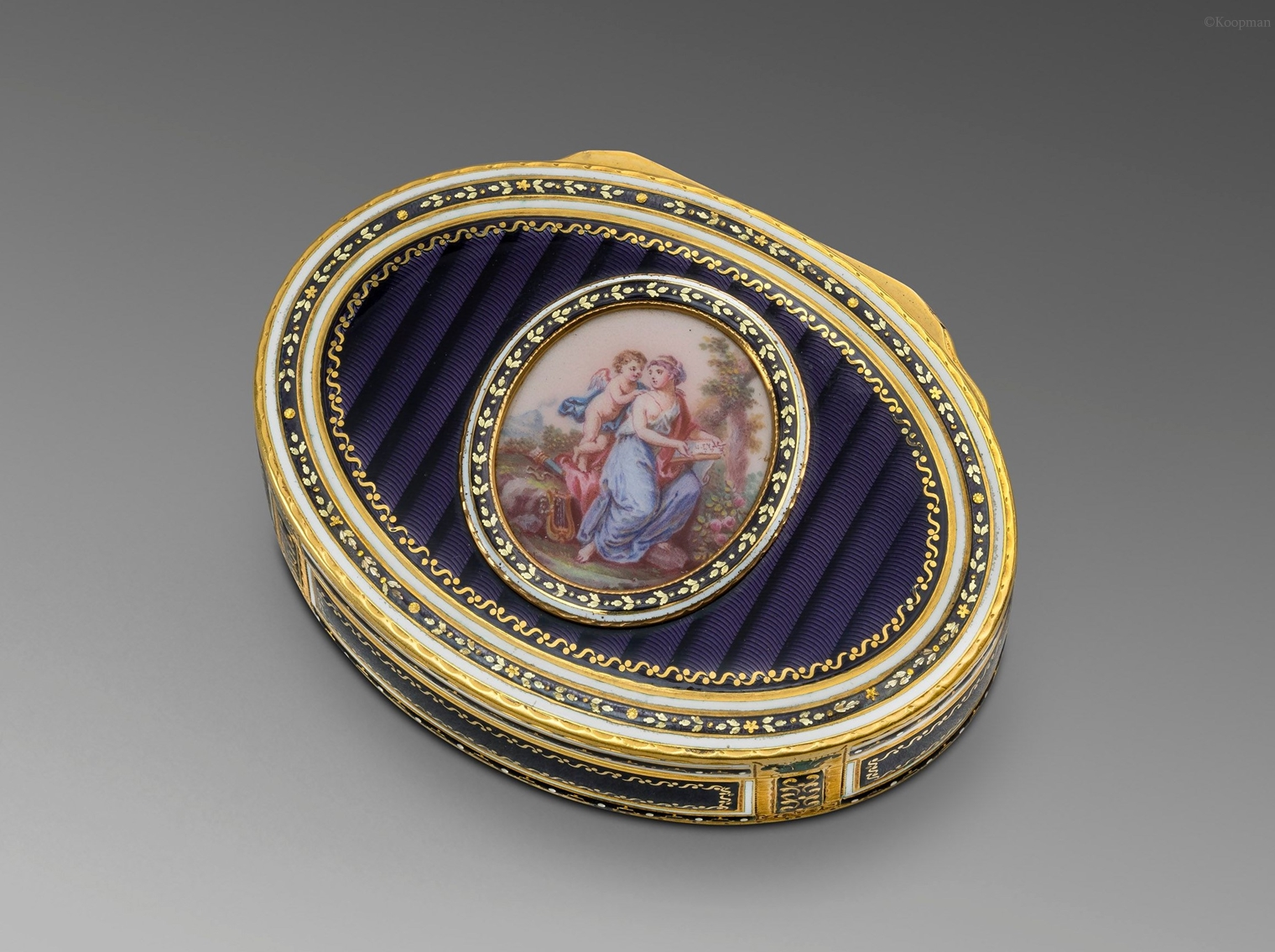 A German Gold and Enamel Box