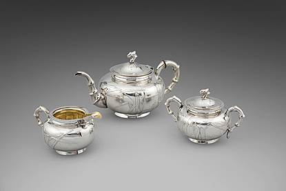 A 19th Century Chinese Three Piece Tea Service