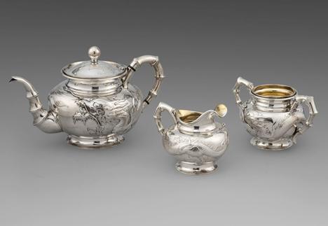An Exquisite Chinese 19th Century Three-Piece Tea Set