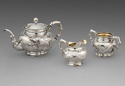 An Exquisite Chinese 19th Century Three-Piece Tea Set