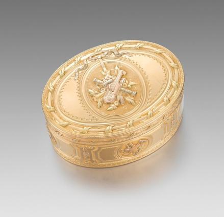 A French Three Colour Gold Box