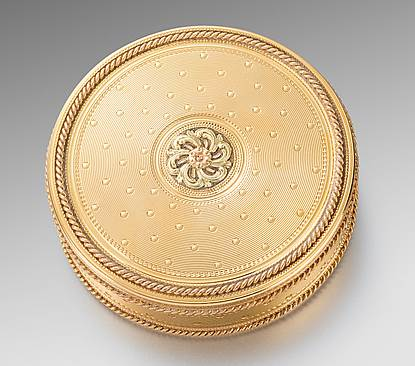 French Round Gold Box