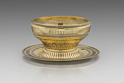 A George III Bowl and Stand