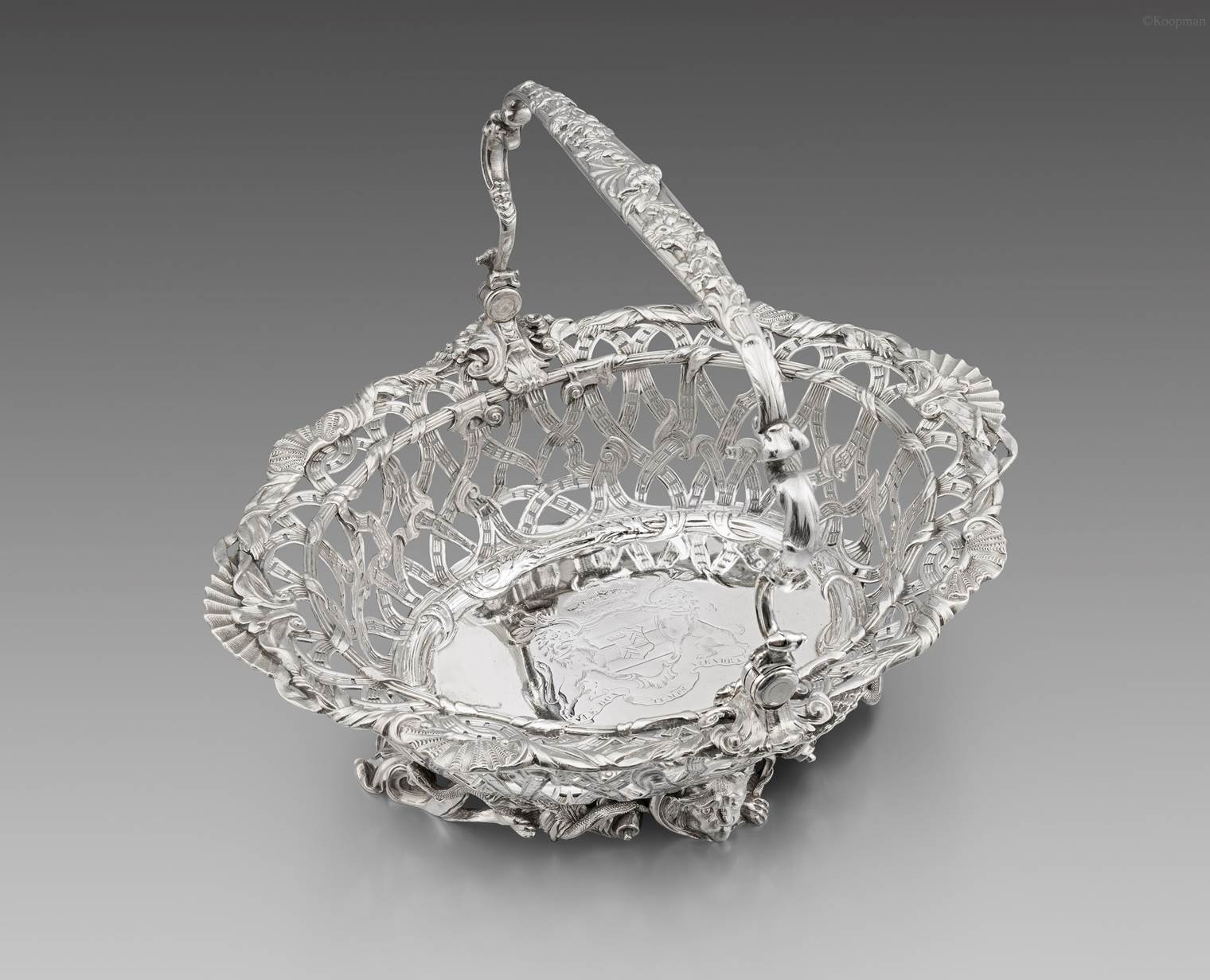 An Elaborate George II Basket