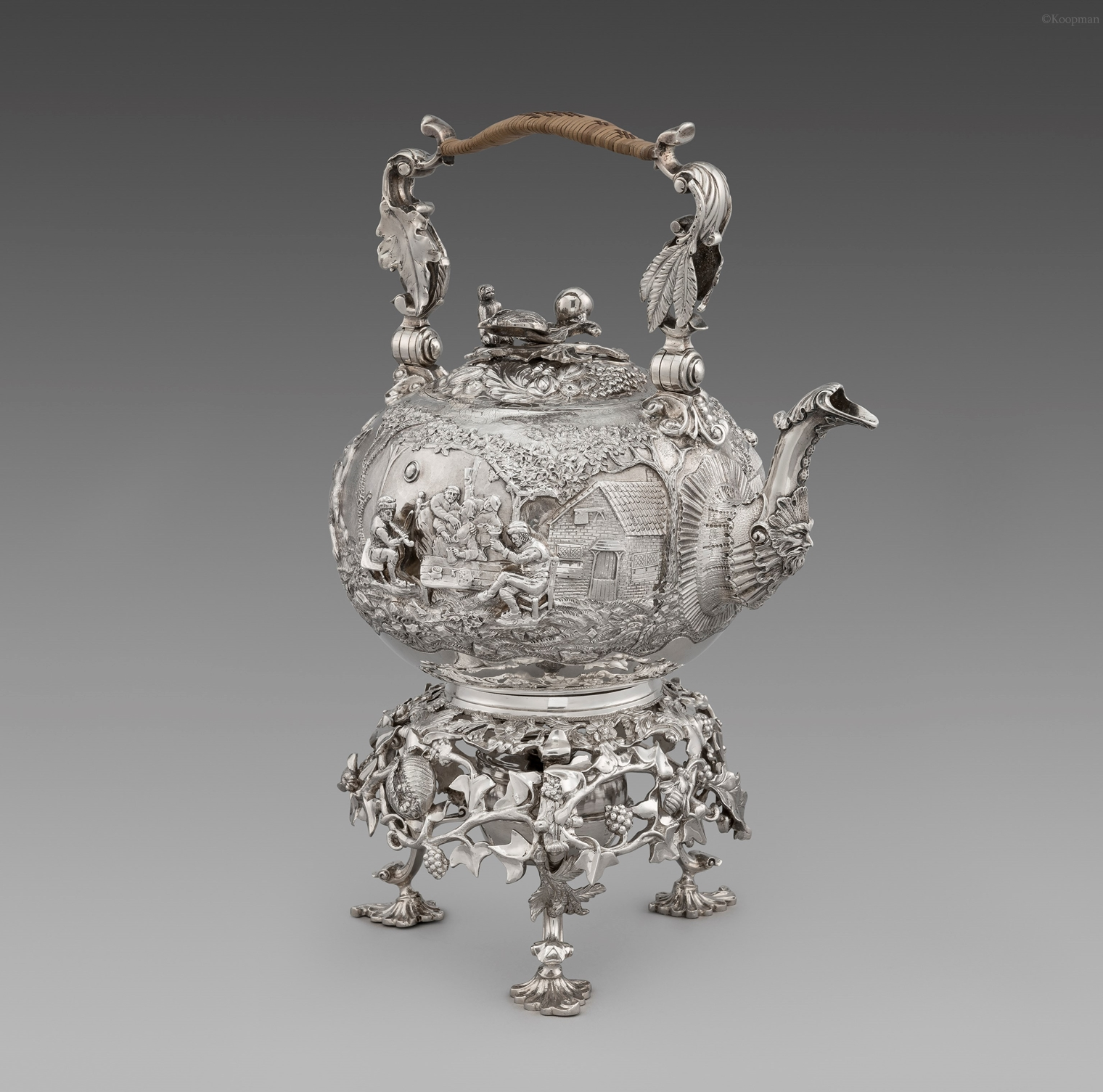 A Magnificent Regency Tea Kettle on Stand