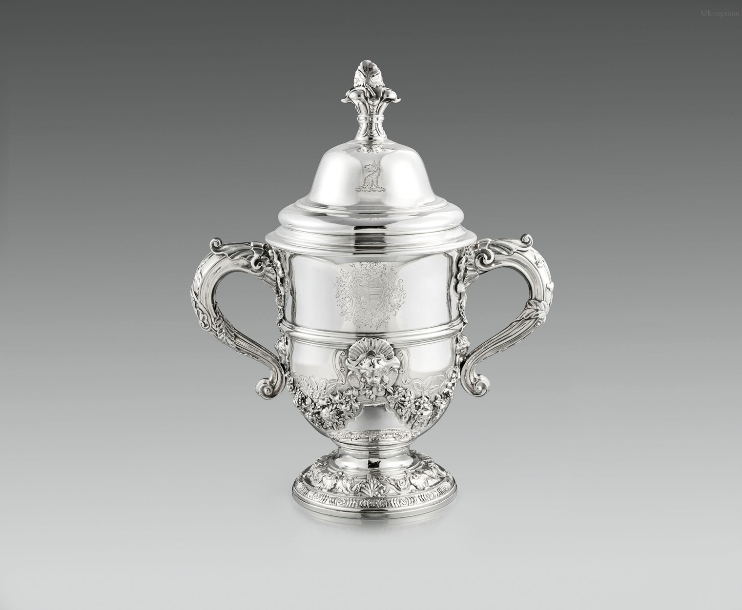 A Magnificent George II Two-Handled Cup & Cover
