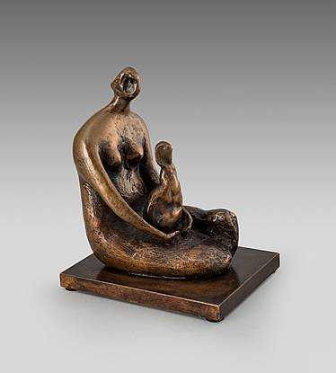 Seated Woman Holding Child 1982