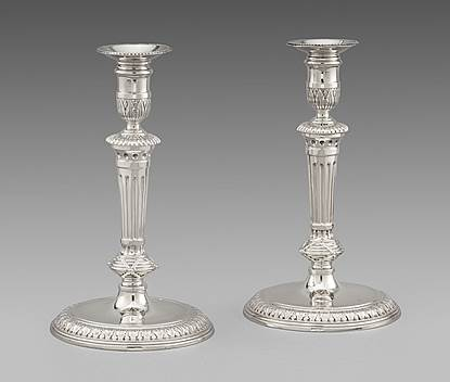 A Superb Pair of Candlesticks