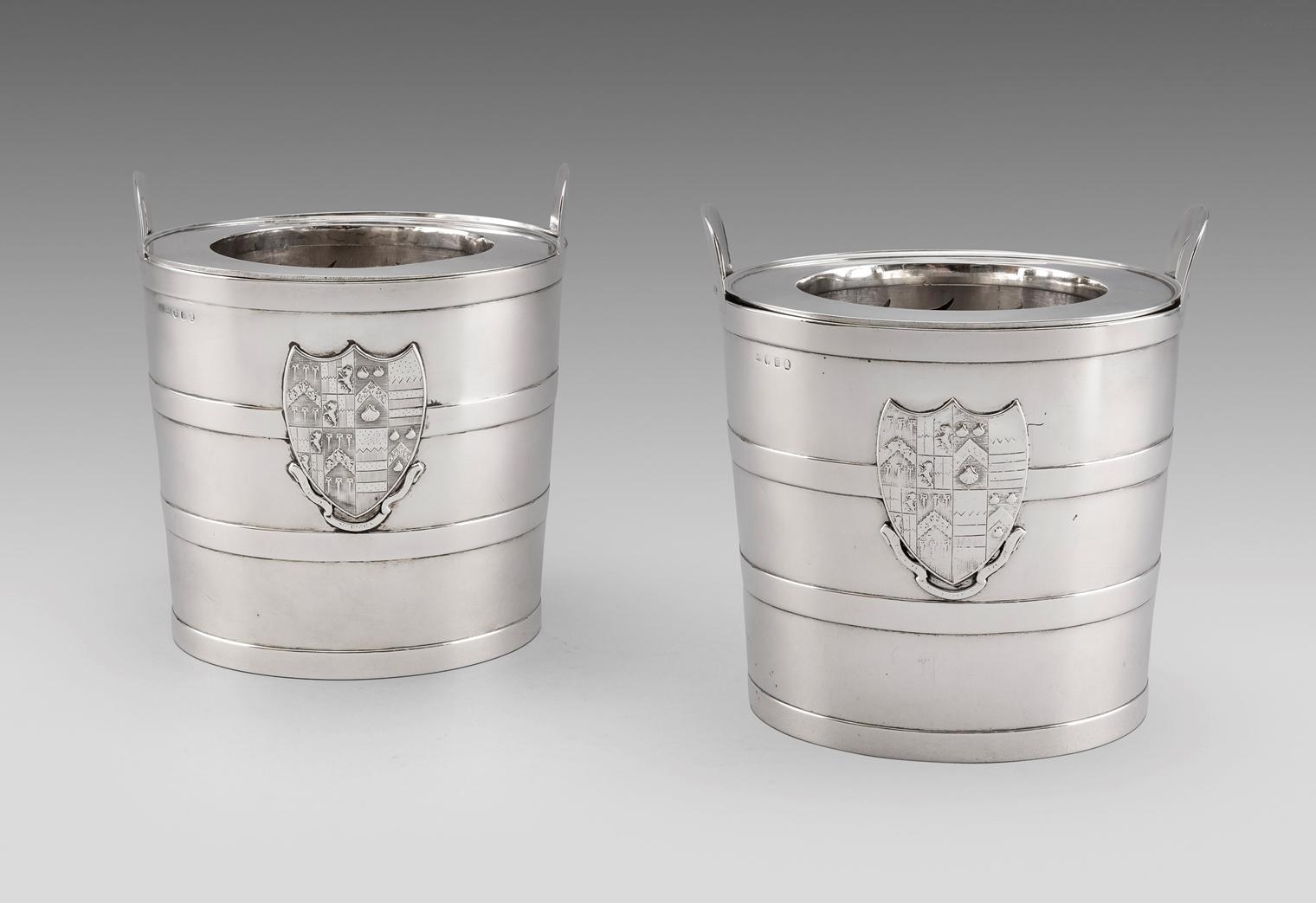 An Elegant Pair of George III Wine Coolers