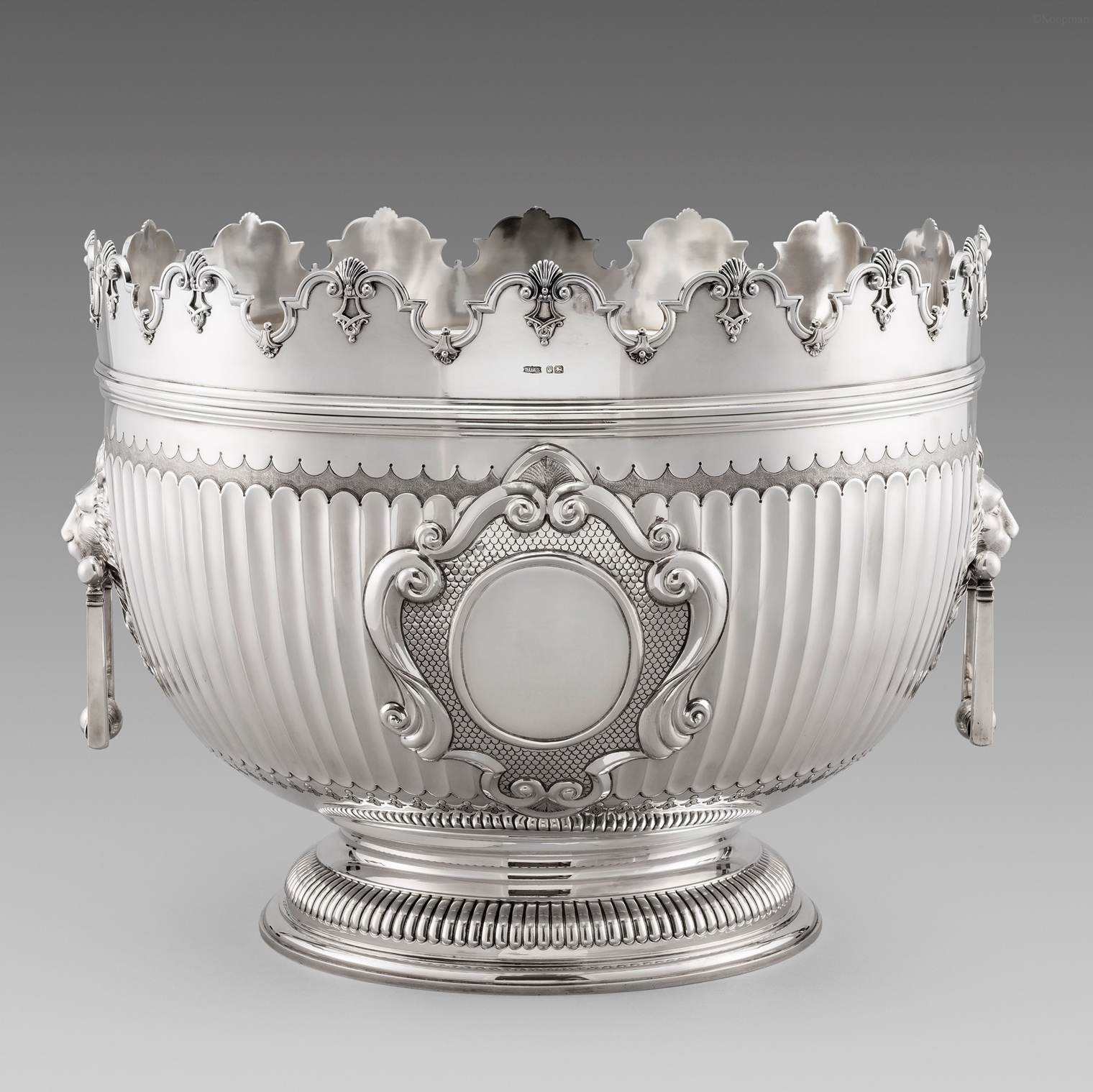 An Exceptionally Large Victorian Monteith Bowl