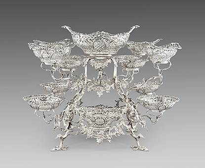 A Monumental Twelve-Arm Epergne