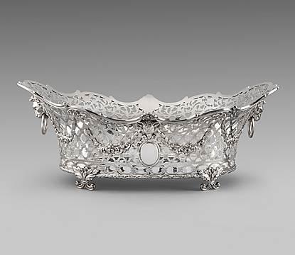 A Victorian Double-Handled Vermeille Centrepiece