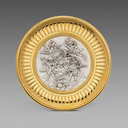 A High-Relief Parcel-Gilt Tazza