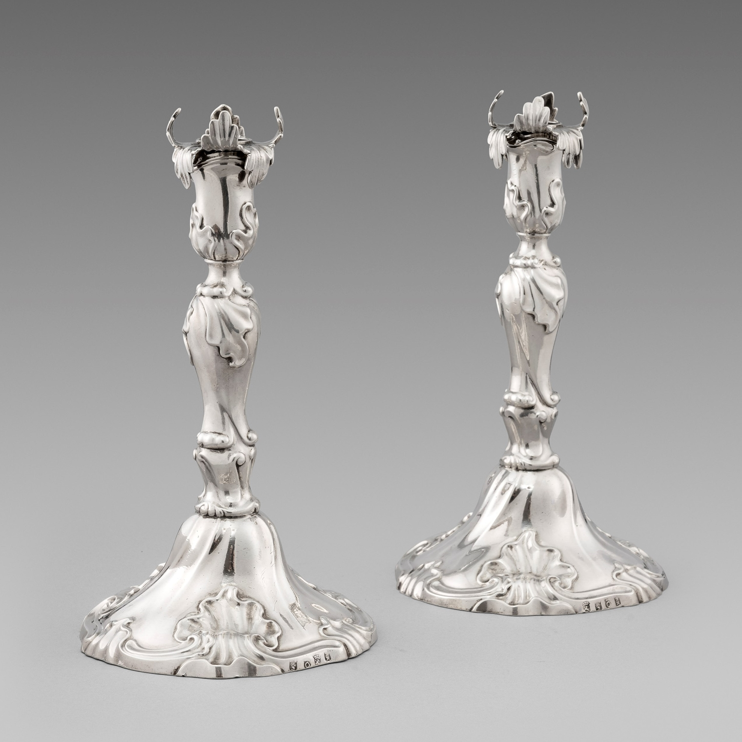 A Pair of 18th Century Dutch Candlesticks