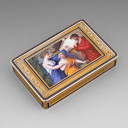 A German 19th Century Gold and Enamel Box