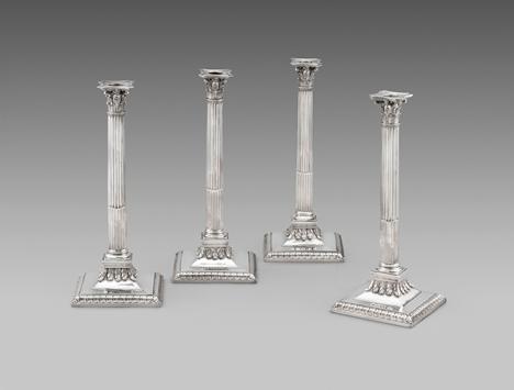 A Splendid Set of Four George III Candlesticks