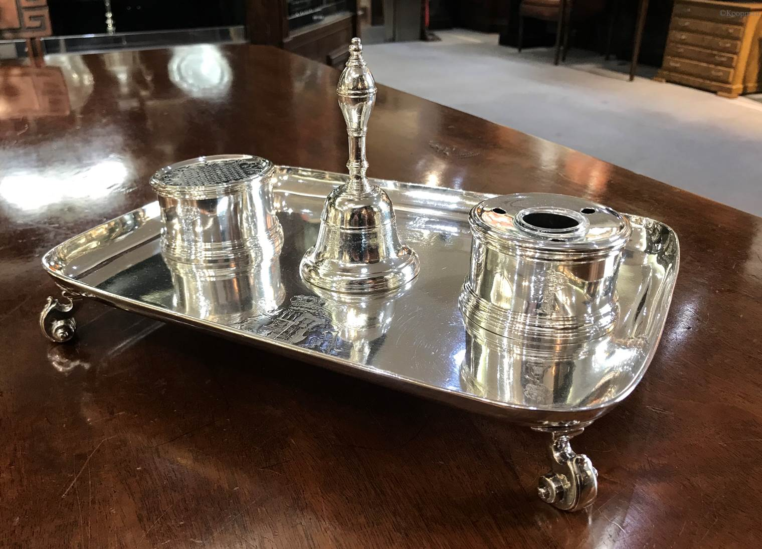 A George I Inkstand for the Lord Chancellor of England