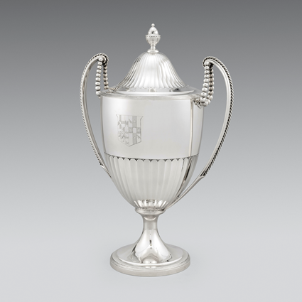 A Demi-Fluted Two-Handled Cup & Cover