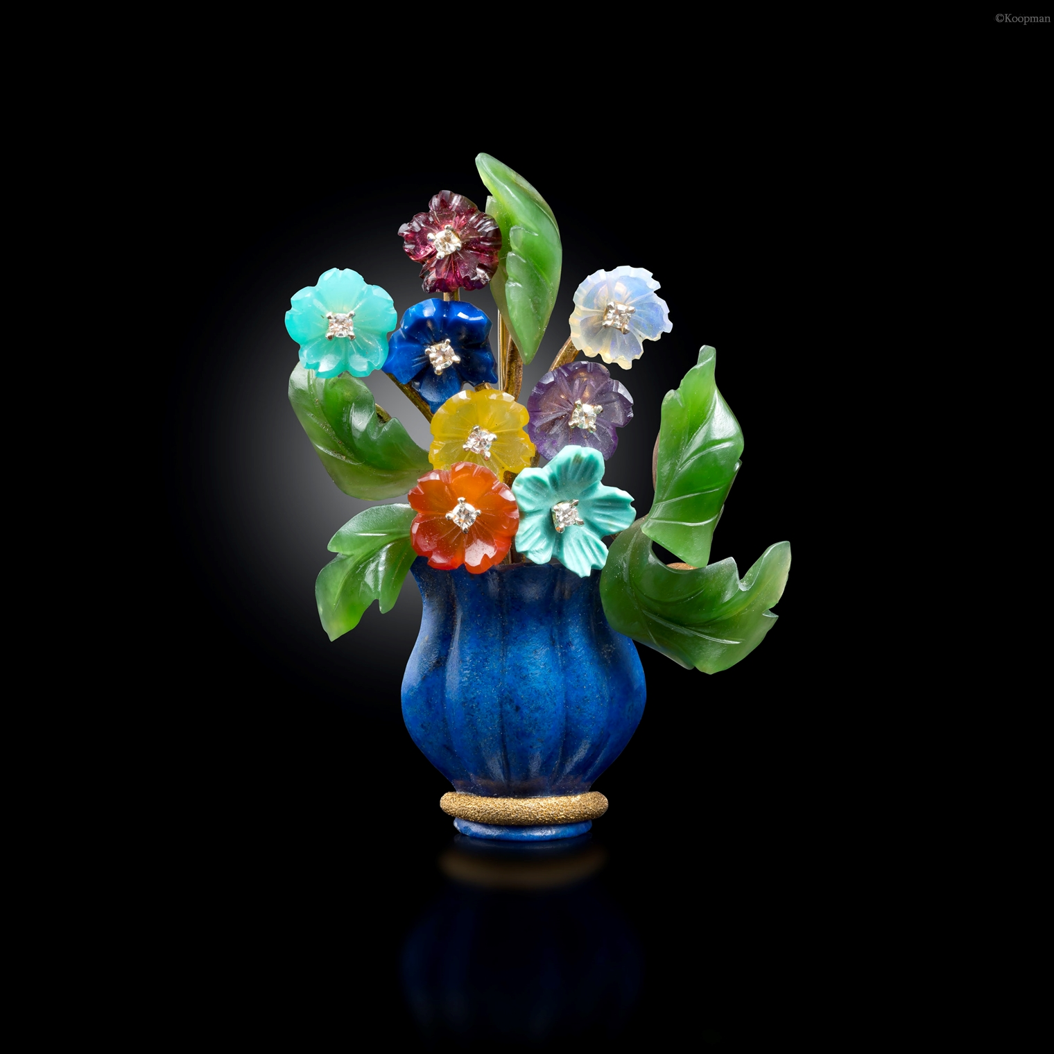 An Austrian Flower Brooch