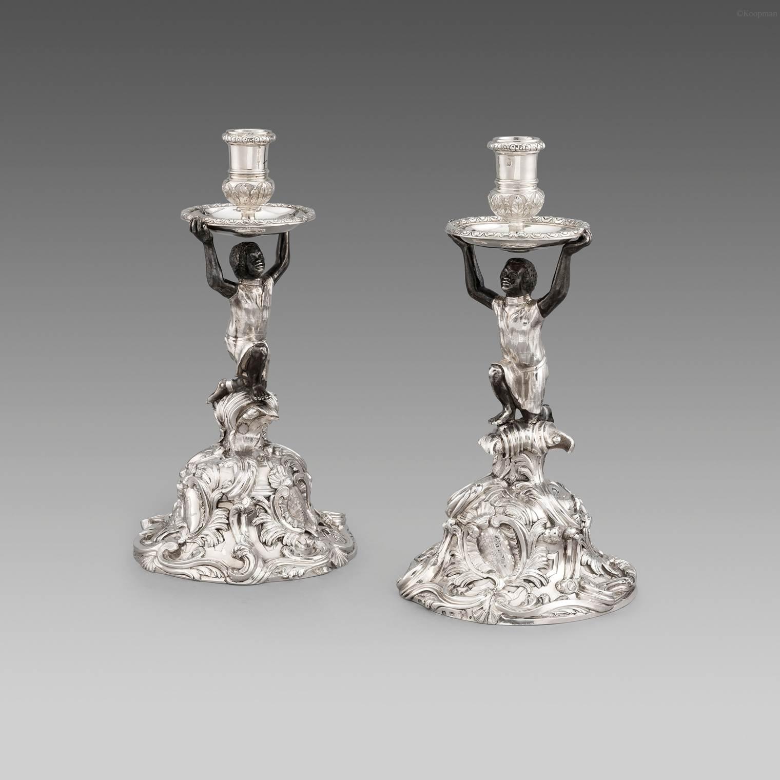 An Exceptionally Rare Pair of Rococo Candelabra