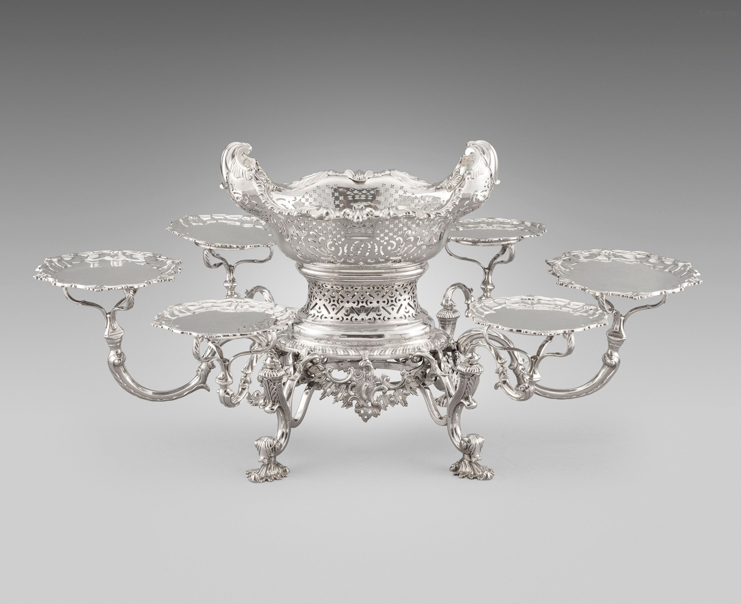 An Extremely Rare and Important Scottish Epergne