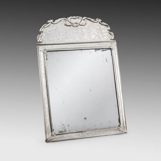An Elegant Chinoiserie Mirror