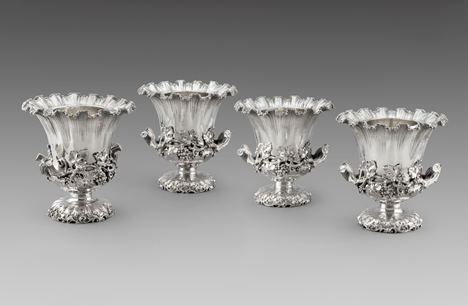 A Set of Four Magnificent Campana-Form Wine Coolers