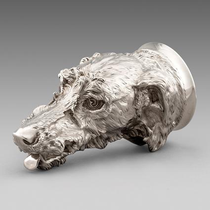 An Irish Wolf Hound Stirrup Cup