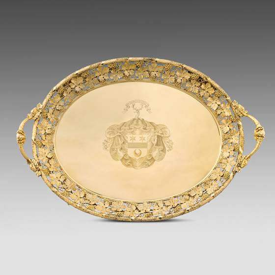 A Highly Important George III Silver-gilt Two-handled Tray