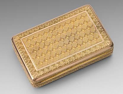 A 19th Century Austrian Two-Colour Gold Box